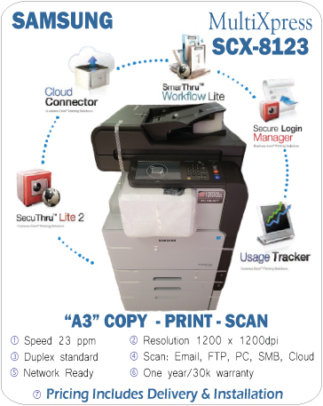 Samsung MultiXpress SCX-8123 available in store Office Imaging Systems
